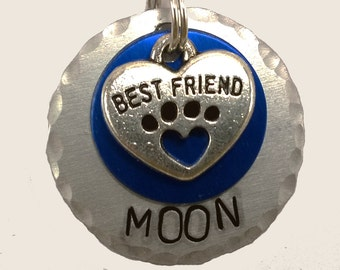 Dog Id Tag,pet id tag, dog tag, custom pet id tag, engraved dog tag, custom dog tag, personalized dog tag, small dog tag, cat tag,collar tag