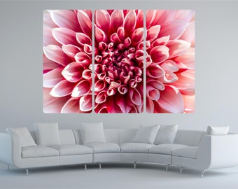 Huge Pink Flower Chrysanthemum 3 Piece Vinyl Wall Art Sticker Decal Transfer P1T