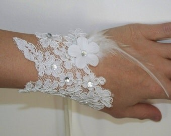 1 mitten bacelet lace white wedding wedding gala ball of fine d year