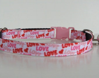 Love Valentine Kitten Collar- READY TO SHIP!