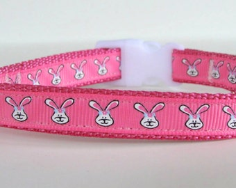 READY TO SHIP! Pink Easter Bunny Extra Small Dog Collar