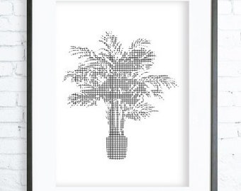 Potted Palm Tree ,Palm Tree print Art,Palm Tree, Palm Tree Printable, Palm Tree Print Art, Palm Tree Wall Decor, Palm Tree Art Print