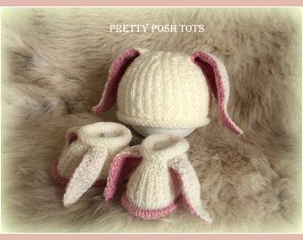 Hoppity hat and slippers pdf  knitting pattern