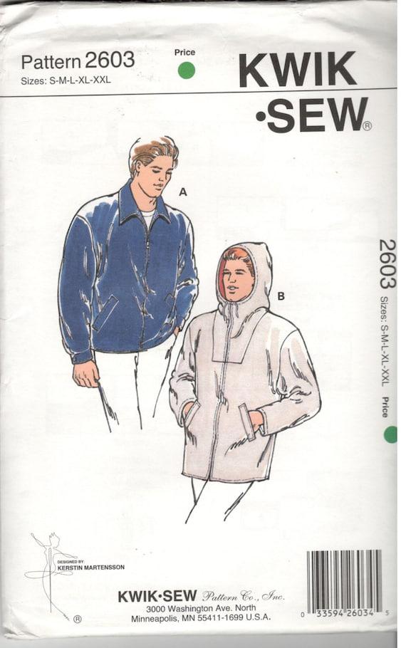 Kwik Sew 2603 Size s m L XL XXL Men's jacket sewing