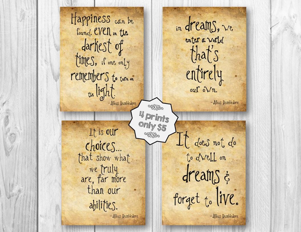 Harry Potter Albus Dumbledore Art Nursery Room Quote Wall Art