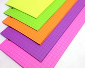 Neon Planner Paper fits Filofax Pocket, Personal or A5 size Planners