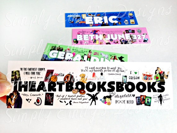 "Personalized Bookmarks (*MUST fill out form in ""item details"")"