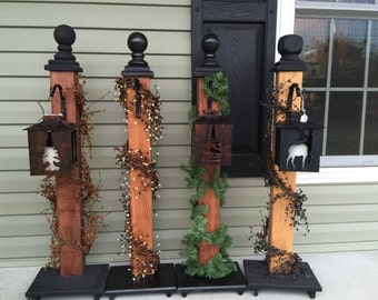 Candle latern Custom porch post  with  hanger, porch decor, front porch