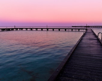 Busselton Jetty Sunrise, Western Australia, Photography Fine ART print