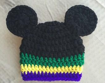 Mardi gras mouse hat
