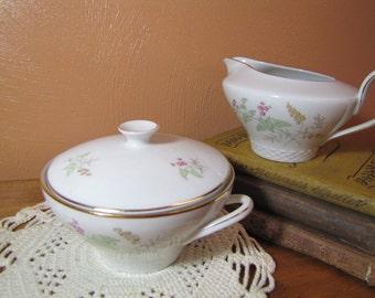 Vintage Covered Sugar Dish and Creamer Set - Raymond Loewy - Johann Haviland - Bavaria