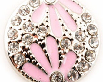Get Snappy! Pink Flower Snap Button