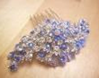 Vintage Inspired Diamante Hair Comb (Any Colour)