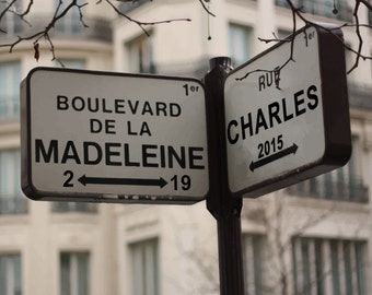 Personalized Wedding Gift Anniversary Paris Intersection Street Sign Date Couples Names Last First Custom