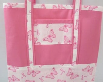 Large Grocery Tote, Reusable Grocery Bag, Farmers Market Bag, Large Canvas Tote, Breast Cancer Survivor Tote
