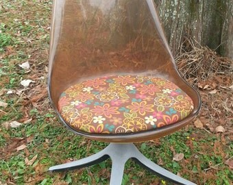 Free shipping!! Mid Century Chairs- Darling Pair of Smoked Lucite Chairs