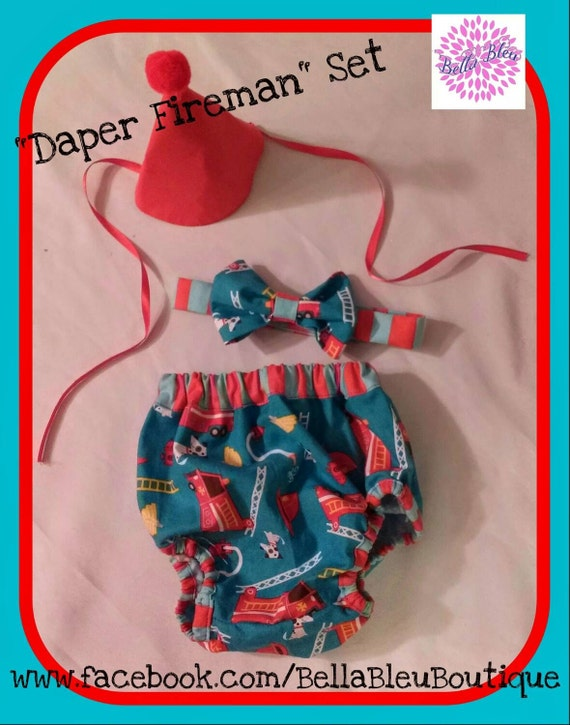 Custom Little Boys Bow Tie and Diaper Cover