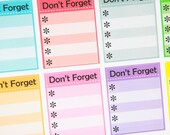 8 Bright Don't Forget Stickers  - Planner Stickers for Erin Condren Life Planners