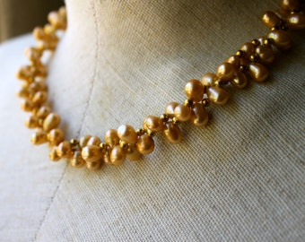 Vintage dual strand pearl necklace