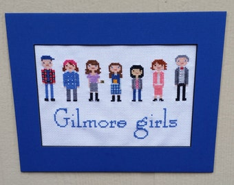 Gilmore Girls Family Portrait Cross Stitch Pattern