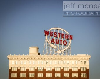 Kansas City Western Auto Building - 80's Tint - Fine Art Print, multiple sizes: 4x5, 5x7, 8x10, 11x14