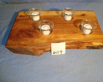 Wild Apple Live Edge Rustic Candle Holder