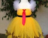 Items Similar To Adorable Spongebob Squarepants Tutu Dress Girly Spongebob Yellow Tutu Dress