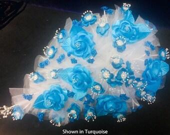 Quince Teardrop Bouquet