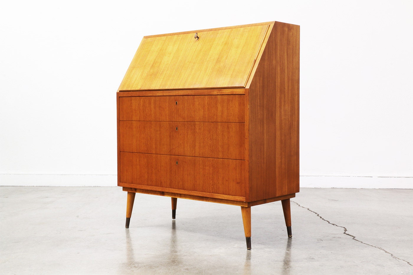 Danish Modern Teak Secretary Desk by VintageSupplyLA on Etsy