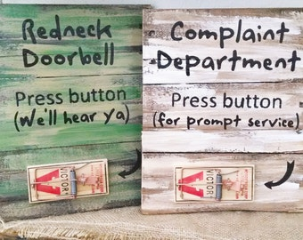Pallet wall decor, rustic redneck signs, wall hanging, funny pallet board signs, rustic wall hanging,  moue trap signs,reclaimed art