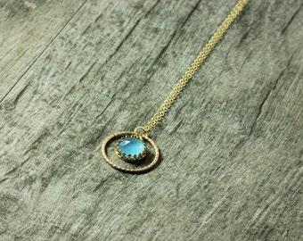 Blue Chalcedony Gemstone Necklace, As seen on Cedar Cove, Season 3 Episode 7