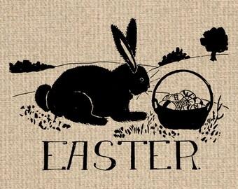 Printable Easter Bunny Image Bunny Graphics Bunny Print Easter Images Bunny Clipart Easter Graphics Digital Sheet Download 300dpi HQ