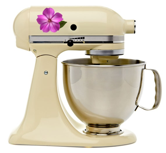 Kitchenaid Mixer Floral Decals ~ Impatiens flower bakery kitchenaid mixer mixing by