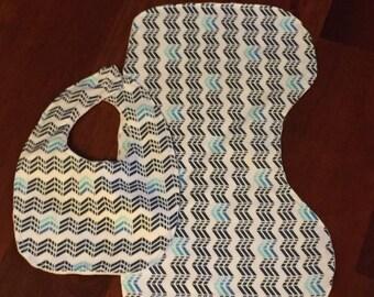Baby Bib & Burp Cloth Set