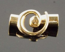 Kumihimo Spiral End Clasp Gold Plated 6.2mm ID