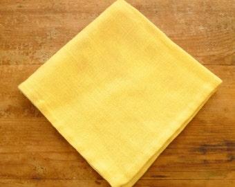 Vintage Yellow Cloth Napkin