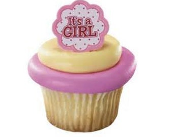 IT'S A GIRL! Cupcake Rings