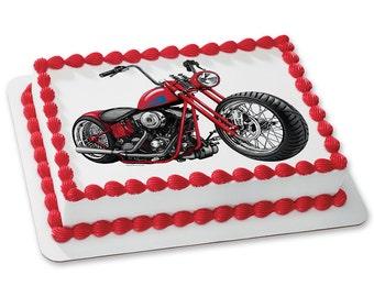 MOTORCYCLE Edible Image