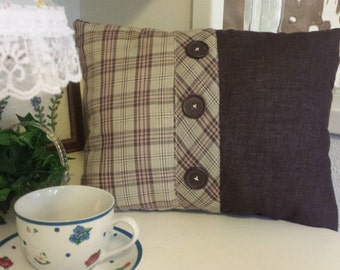 Wow 25% OFF Plaid and Buttons 12x16 Pillow.....now 10.50