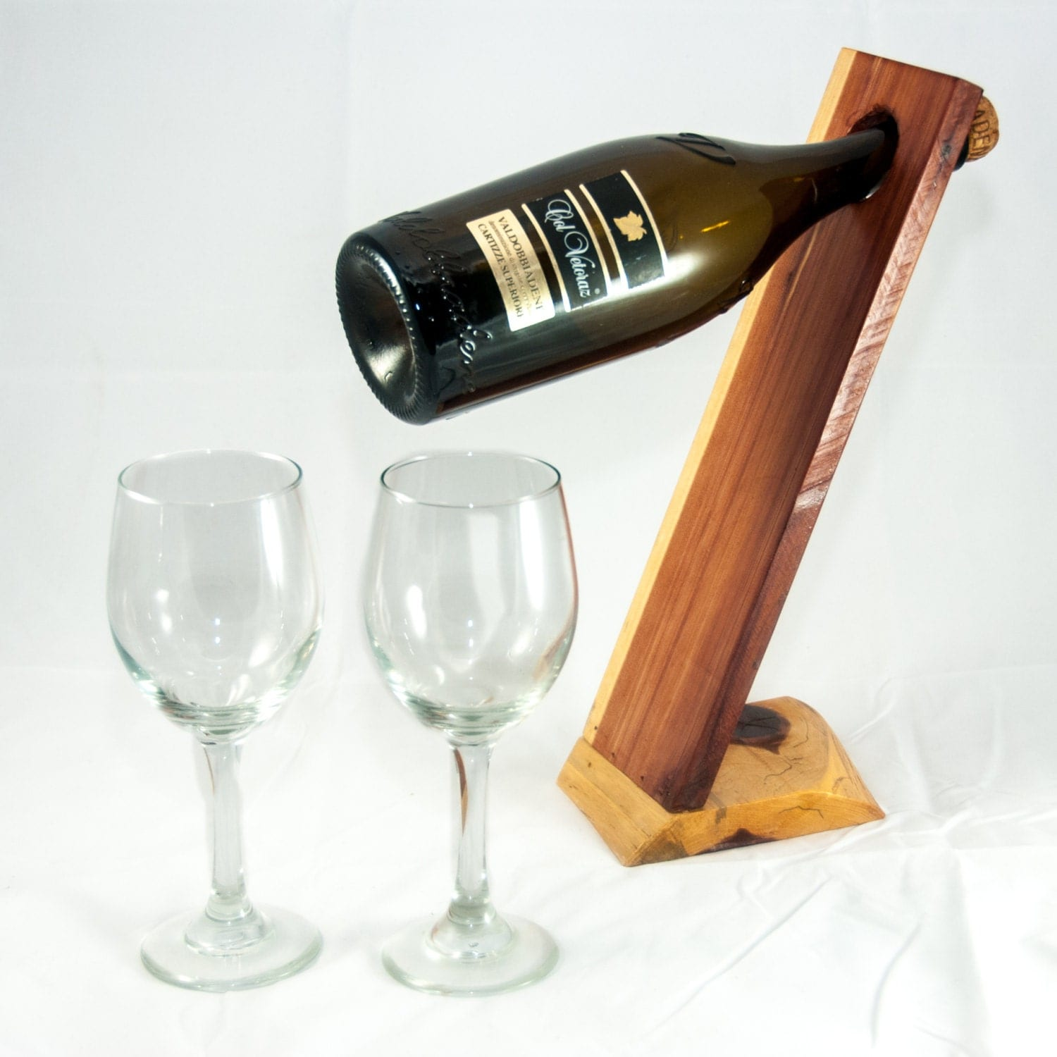 Unique Wine Bottles: Wine Holder Unique Wine Gift Rustic Home Decor By