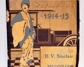 Genuine Vintage 1914 Ladies Clothing Catalogue Fall Winter -- Free Shipping