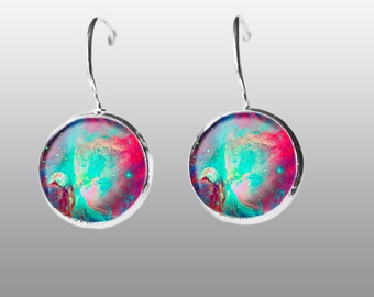 Galaxy Earrings. Nebula Space Earrings. Universe Earrings. Galaxy dangle Earrings. Space Post Earrings Gift for Women and Girls.