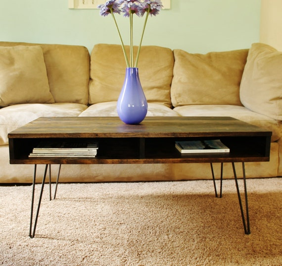 Items Similar To Coffee Table, Mid Century Modern Hairpin