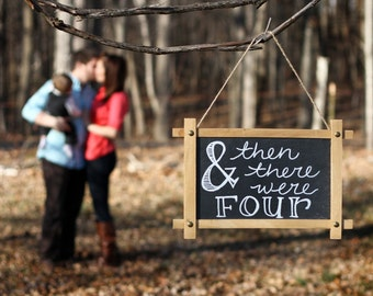 Pregnancy announcement chalk boards - double sided