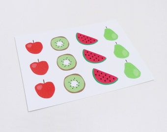 Fruit postcard, Food greeting card