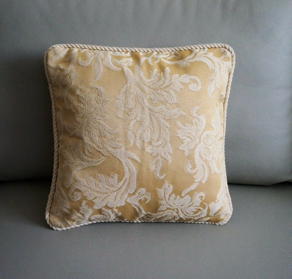 Ivory pillow cover cream Embroidered throw pillow embroidered