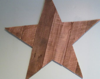 Recycled Wooden Rustic Wall Art Country Style  Star