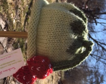 Handknit Newborn Baby Fruit or Vegetable hats