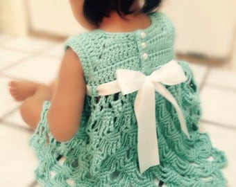 Crochet Party dress for little girl, Flower girl dress, Birthday dress, Crochet dress for babies