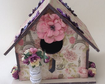Wedding decoration, Home decor, Bird house decoration, Wedding gift, Birthday gift